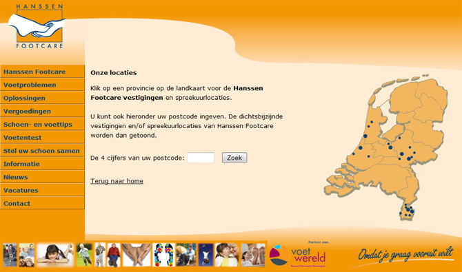 Website Hanssen Footcare