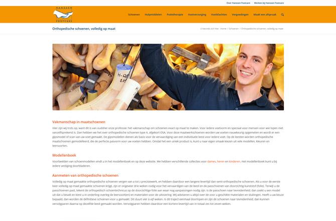 Vernieuwde website Footcare